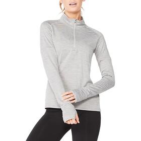 2XU Ignition 1/4 Zip Shirt Women grey marle/silver reflective